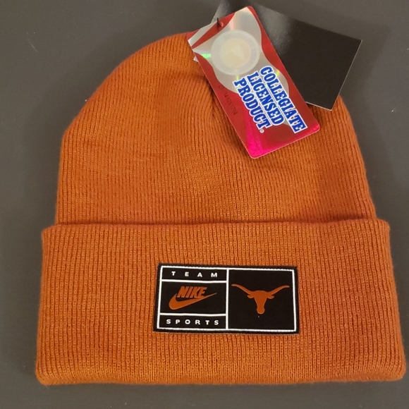 NWT - NIKE Univ. Of TEXAS Cuffed Beanie